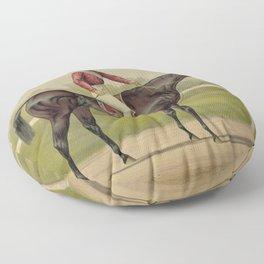 Grand Racer Kingston - Vintage Horse Racing Floor Pillow