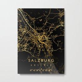 SALZBURG MAP AUSTRIA Metal Print