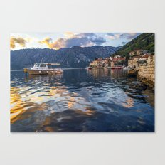 Sunset in Perast - Montenegro Canvas Print