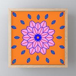 Flower Power Orange Vibes Framed Mini Art Print