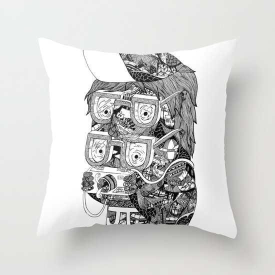 hipster Throw Pillow