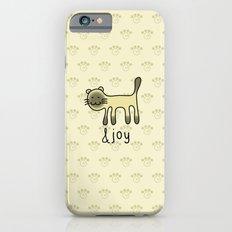 Cute Siamese Cat & Joy Doodle iPhone 6s Slim Case