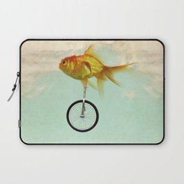 unicycle gold fish -2 Laptop Sleeve