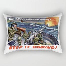 Your Metal Saves Our Convoys Rectangular Pillow