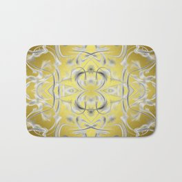 silver Digital pattern with circles and fractals artfully colored design for house and fashion Bath Mat