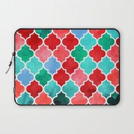 moroccan art watercolor transparant Laptop Sleeve