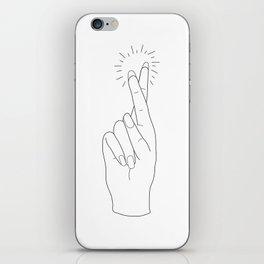 Fingers Crossed iPhone Skin