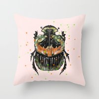 insect Throw Pillows featuring INSECT X by dogooder