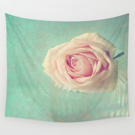 Mint Rose  Wall Tapestry
