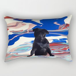 Melt pug Rectangular Pillow
