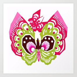 Cute Rice Paper Painted Butterfly Art Print