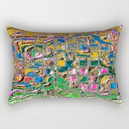 Eroded Grid 1 D Rectangular Pillow