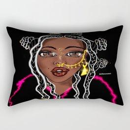 Chiney Bumps/ Bantu Knots Rectangular Pillow