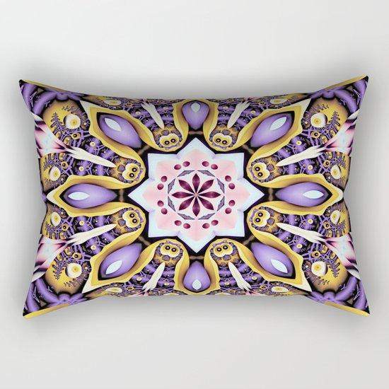 Kaleidoscope in purple, pink, gold and blue Rectangular Pillow