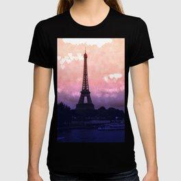 Paris Pastel Heart Bokeh T-shirt