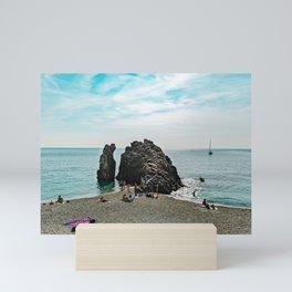 Ligurian Beach Cinque Terre Mini Art Print