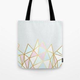 Gold & Pastel Geometric Pattern Tote Bag