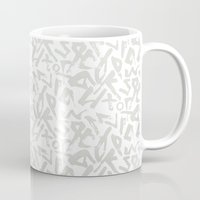 calligraphy Mugs featuring Calligraphy  by Johs
