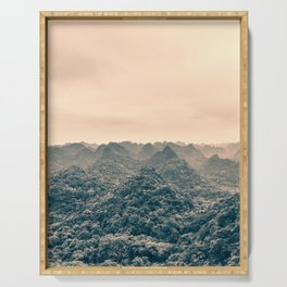 Unreal Dreamlike Hilly Landscape. Nature Photography. Serving Tray