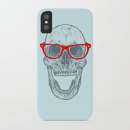 Smart-Happy Skully iPhone Case