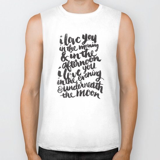 I love you in the morning Biker Tank