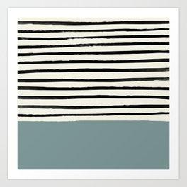 River Stone & Stripes Kunstdrucke