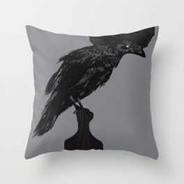 The Black Crow Throw Pillow