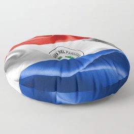 Paraguay Flag Floor Pillow