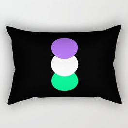 Genderqueer in Shapes Rectangular Pillow