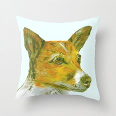 Jack Russell printed from an original painting by Jiri Bures Throw Pillow