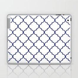 quatrefoil - navy Laptop & iPad Skin