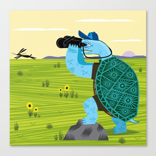 The Tortoise and The Hare Canvas Print