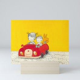 Miss Carrie & Mr Rabbit Mini Art Print