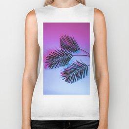 Seapunk Palm Leaves, Palm Leaf, Palm Tree Lover, 80s vibes Biker Tank