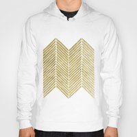 gold foil Hoodies featuring Gold Foil Chevron by Berty Bob