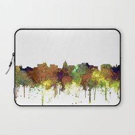 Madison, Wisconson Skyline - Safari Buff Laptop Sleeve