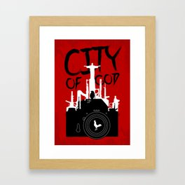 City of God - Minimal Movie Fanart Alternative Framed Art Print