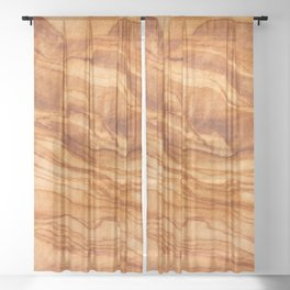 Olive Wood Sheer Curtain