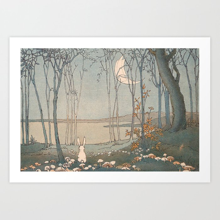Rabbit in the forest Art Print