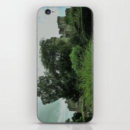 Warwick Castle Bathed in Green Light iPhone Skin