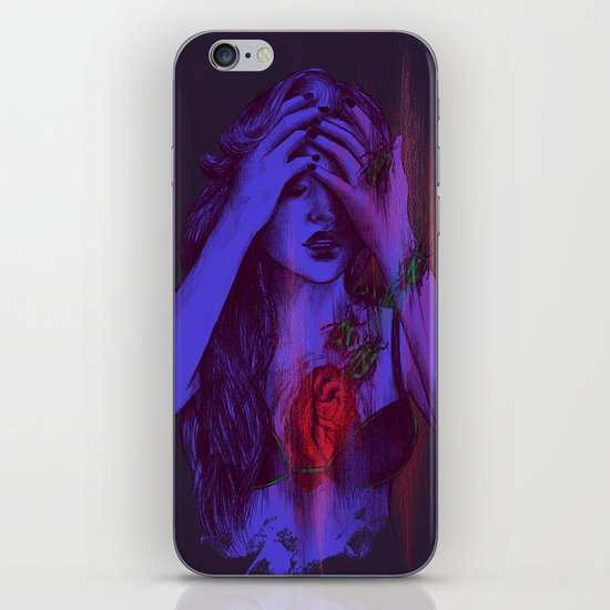 THE HEART SCARAB iPhone & iPod Skin