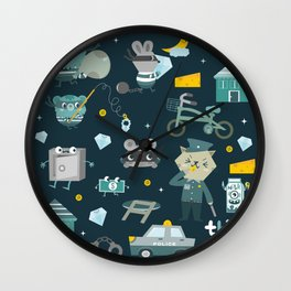 Thief night Wall Clock