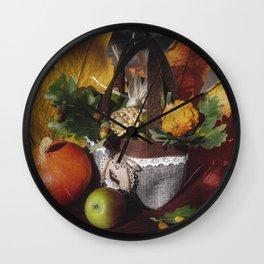 Fall Decor Wall Clock