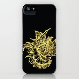 GOLDEN BEAUTY - GOLD ON BLACK iPhone Case
