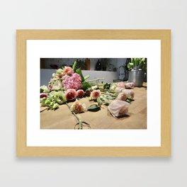 Kazakh Roses Framed Art Print