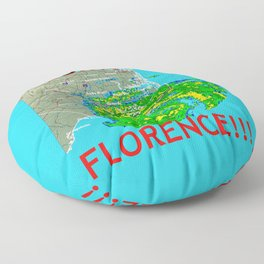 I Survived Hurricane Florence!!! Floor Pillow