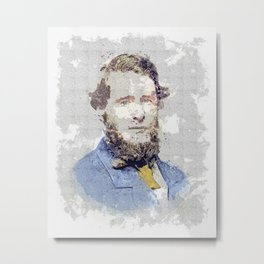 1859 (about) - Plutarch Hines Dorsey (1833-1915) watercolor by Ahmet Asar Metal Print