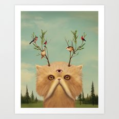 Bastet, Cat Deity - patron of the forest & animals Art Print