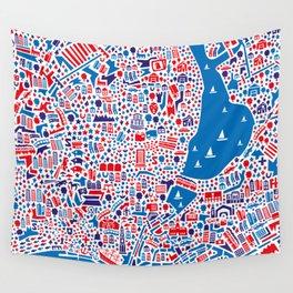 Hamburg City Map Poster Wall Tapestry