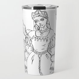 Ann Boleyn Line Art Travel Mug